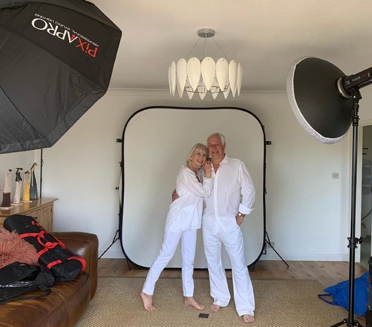 Married Couple model succesfully working on commercial shoot.