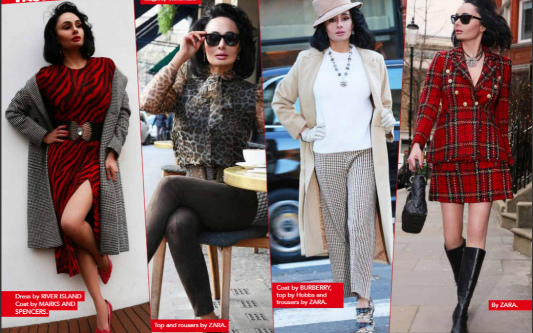 Published Magazine Winter Fashion Shoot for Sophia Nooshin